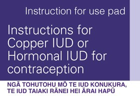 Instructions For Copper IUD Or Hormonal IUD For Contraception