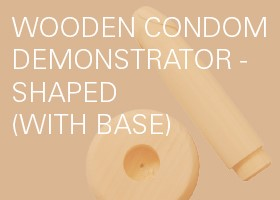 Wooden Condom Demonstrator(with base)-Shaped