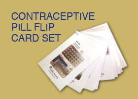 Contraceptive Pill Flip Card Set